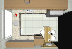 Projeto de Cozinha/Dormitório Casal/Dormitório Adolescente